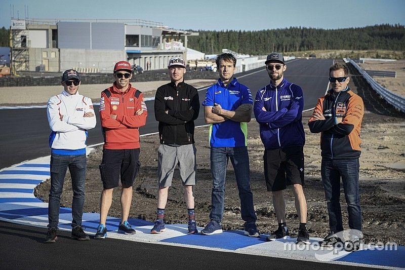 La MotoGP assaggia il KymiRing con i tester dei team ufficiali