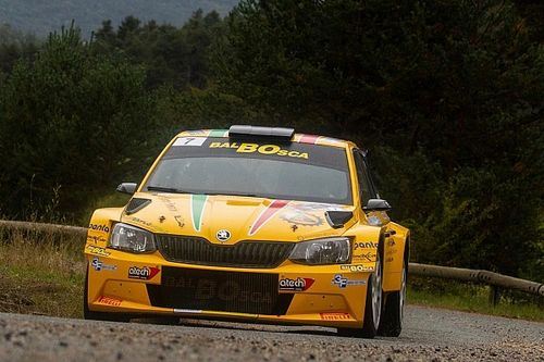 Christophe Hurni au départ du Rallye International du Valais