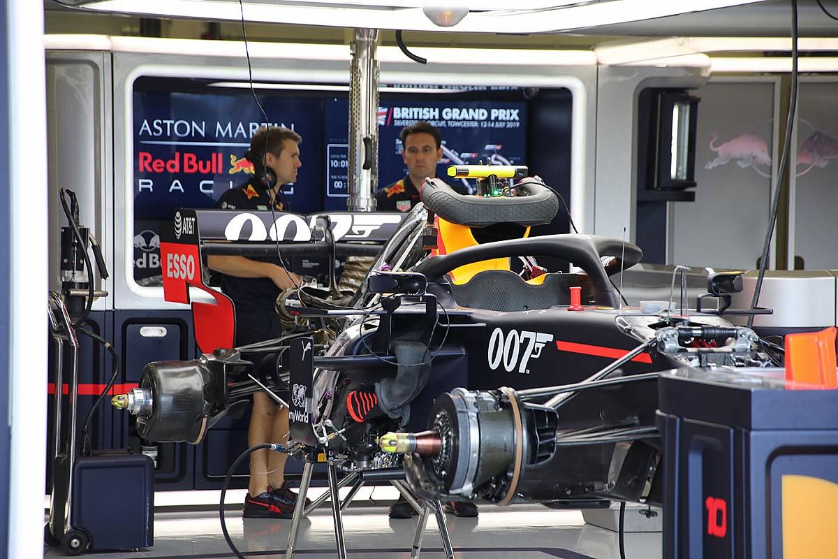 Fotos: al detalle, los coches de F1 listos para el GP de Gran Bretaña