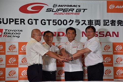新GT500マシン発表の3社が意気込み。ホンダは発表後の鈴鹿テストに参加せず
