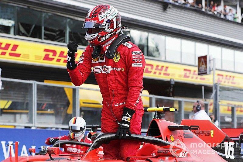 Leclerc gana la pole en Bélgica y Pérez desde el top 10