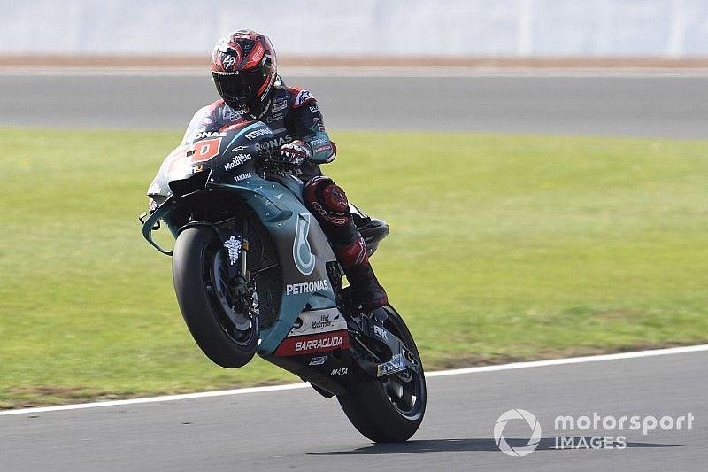 Quartararo lidera el warm up en Silverstone