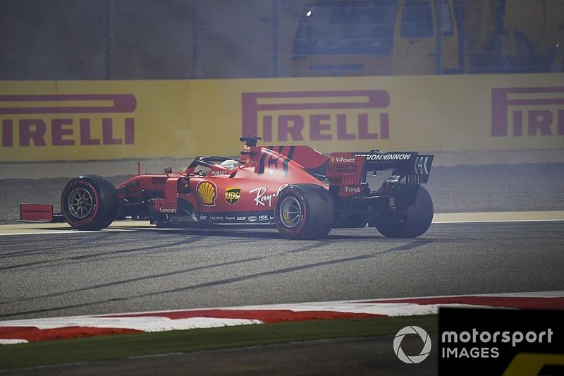 Vettel ontkent dat spin in Bahrein door prestatiedruk kwam na fout gelopen 2018