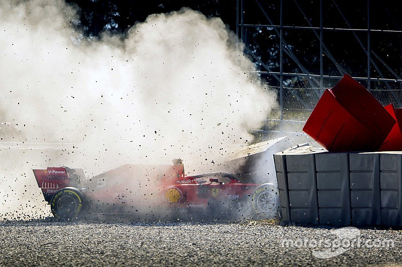 Vettel says damage making it hard to find crash cause
