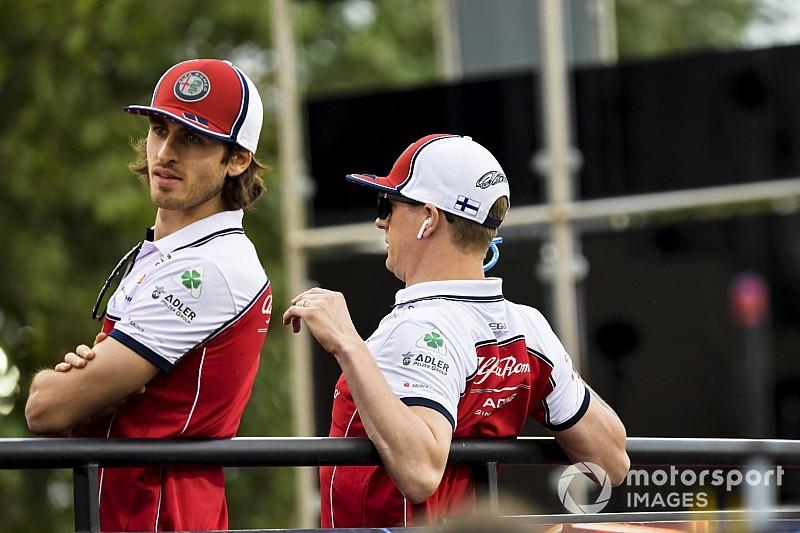 """Alfa Romeo, Giovinazzi: """"L'esperienza di Kimi sta facendo la differenza tra noi"""""""