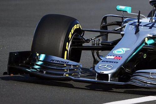Sorpresa Mercedes: c'è un doppio bracket nella sospensione anteriore della W10?