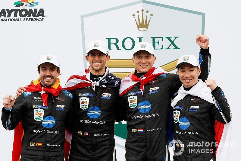 """Alonso: """"Orgoglioso di aver vinto Le Mans e Daytona, l'anno scorso non ci avrei mai pensato"""""""