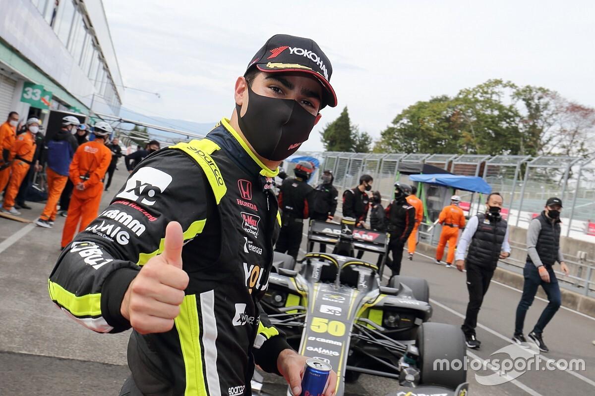 Sugo Super Formula: Sette Camara grabs shock pole