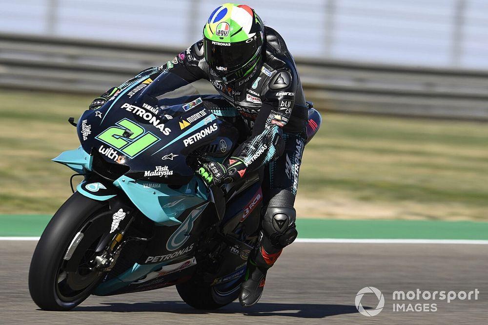 Aragon MotoGP: Üçüncü antrenmanda Morbidelli lider, Quartararo kaza yaptı