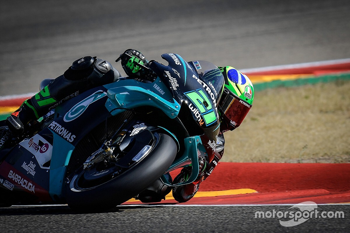 Morbidelli topt VT3 in Aragon, zorgen na zware crash Quartararo