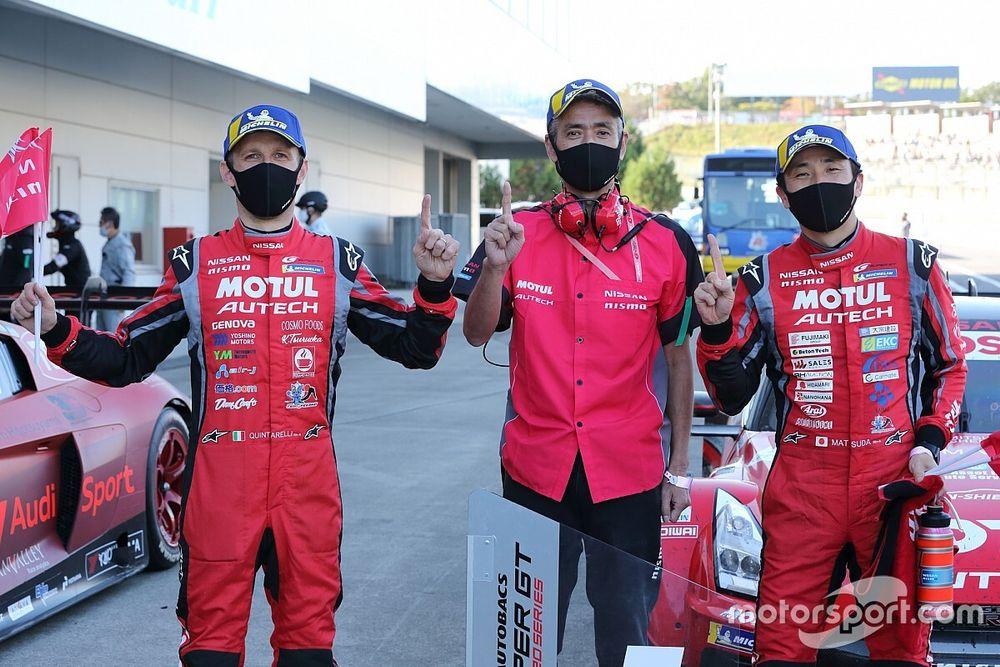 地獄から天国へ。大逆転勝利の23号車ニスモ、松田次生「結果で感謝を伝えたかった」