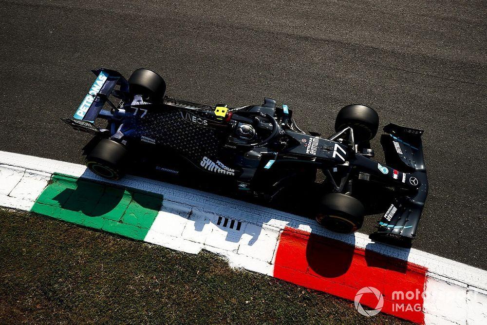 """Bottas: domínio da Mercedes em Monza na sexta """"surpreendeu um pouco"""""""
