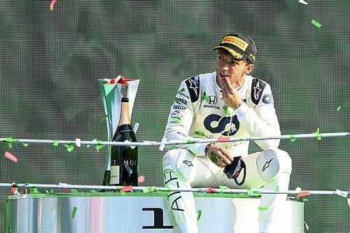 Gasly wint bizarre Grand Prix van Italië, podium voor Sainz en Stroll