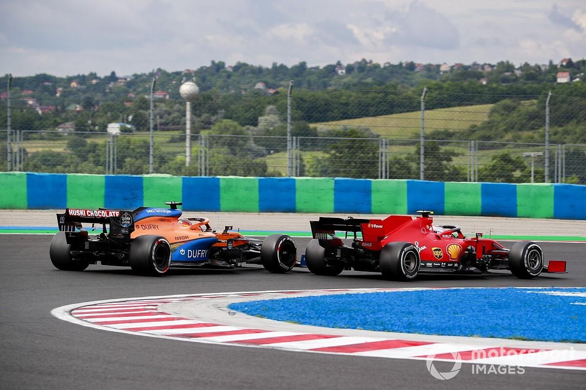 """Sainz rescata un top 10 en Hungría tras pasar a Leclerc: """"Me tiré a saco"""""""