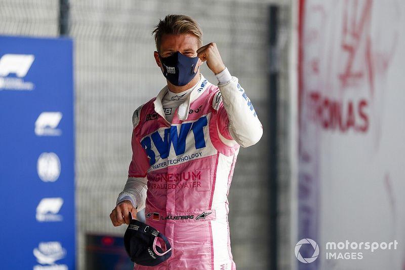"""Un Nico Hülkenberg""""plein gaz"""" s'offre une inattendue 3e place"""