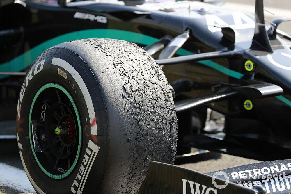 """Mercedes en el """"peor extremo"""" del desgaste de neumáticos"""