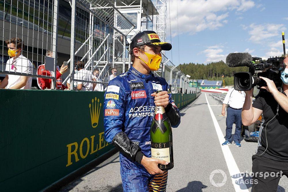 "Norris feared he had ""fudged"" podium shot"
