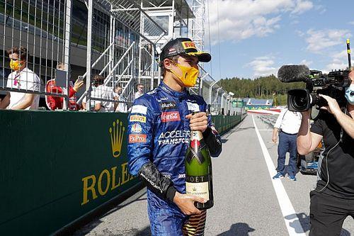 「言葉にできない、本当に嬉しい!」F1初表彰台を獲得のノリス、喜び爆発
