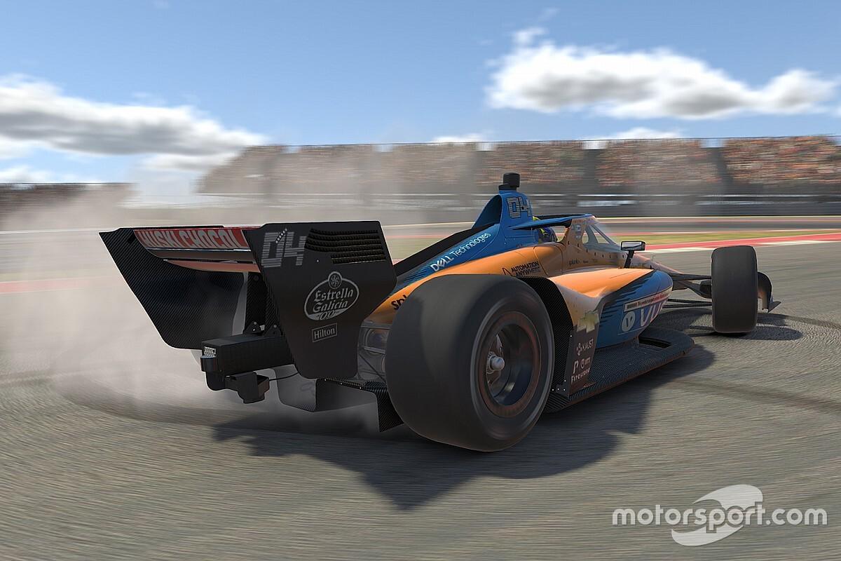 Ilyen dühös volt magára Norris, amikor megforgott az első online IndyCar futamán (videó)