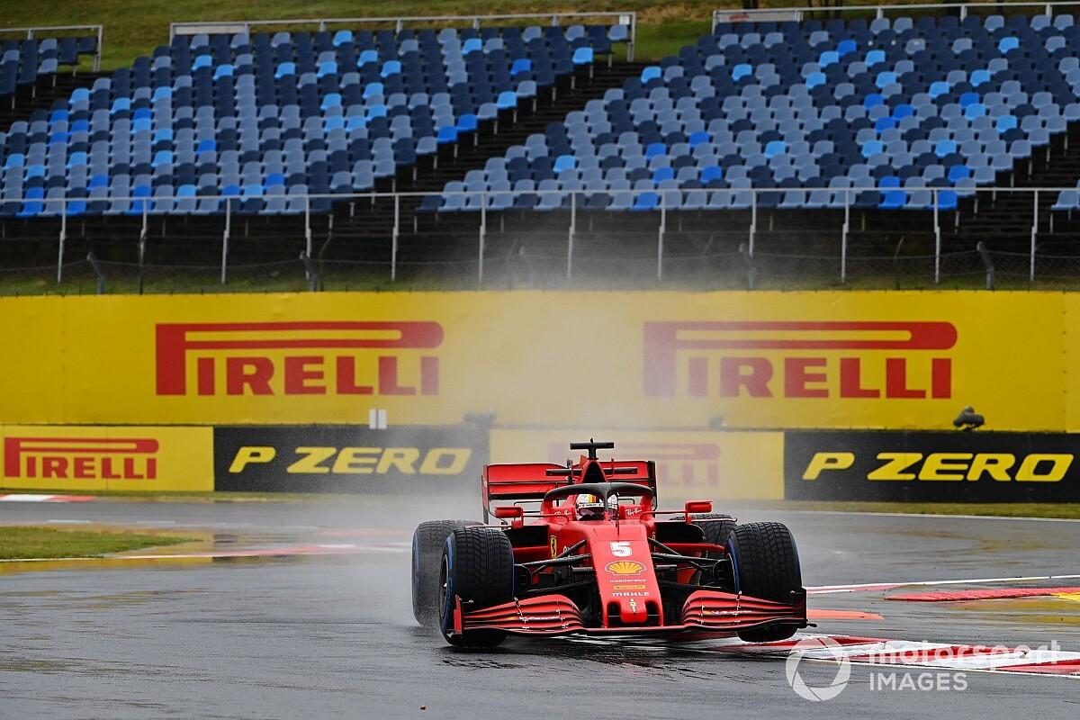 F1ハンガリーGP:雨のFP2は消化不良? ベッテル首位も7台がタイムを残さず。フェルスタッペン7番手