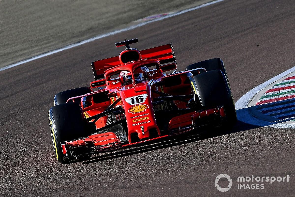Ferrari y Leclerc completaron 100 giros en Fiorano