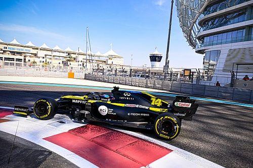 La parrilla del GP de Abu Dhabi... con los pilotos del test