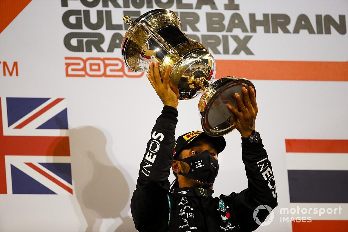"""巴林大奖赛:汉密尔顿稳健获胜,幸存者格罗斯让荣获""""最佳车手"""""""
