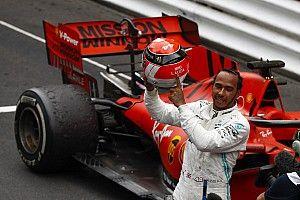 """Hamilton iba a """"estrellarse o terminar"""" con los neumáticos desgastados"""