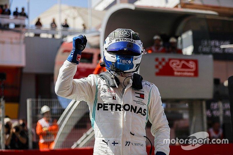 Spanish GP: Bottas beats Hamilton to pole by 0.6s
