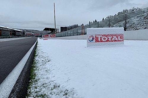 Le circuit de Spa s'est réveillé sous la neige