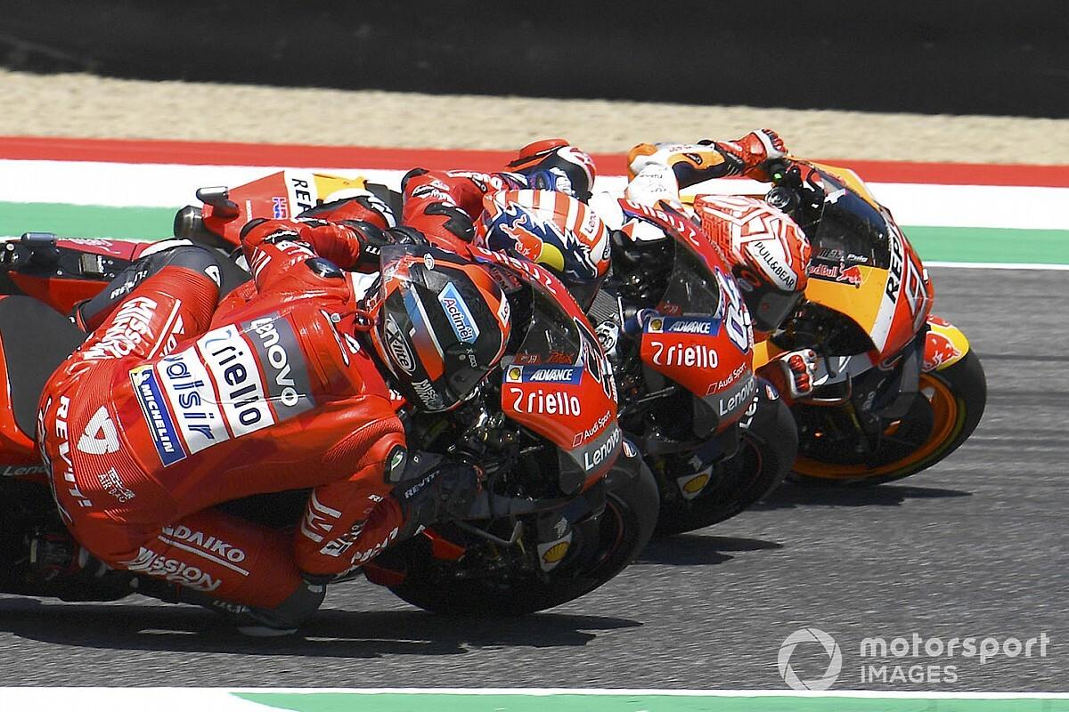 El semáforo del Gran Premio de Italia de MotoGP