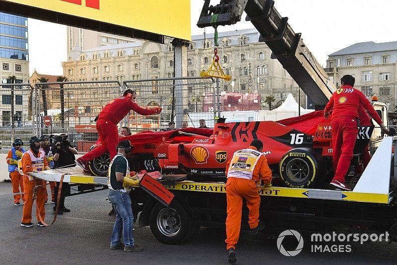 """Leclerc, tras su accidente en Q2: """"Soy un estúpido"""""""