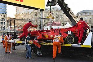Leclerc bate Ferrari em Baku e perde chance de pole: 'Eu sou burro!'
