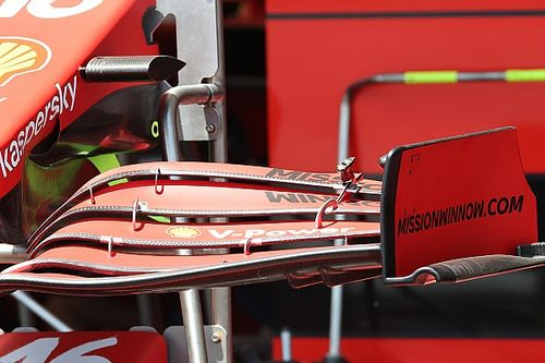 Ferrari cerca velocità con il flap con corda più corta