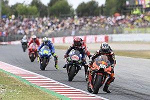 Las fotos de la estrambótica carrera de MotoGP en Barcelona