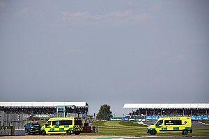 Verstappen fue trasladado al hospital tras el accidente con Hamilton