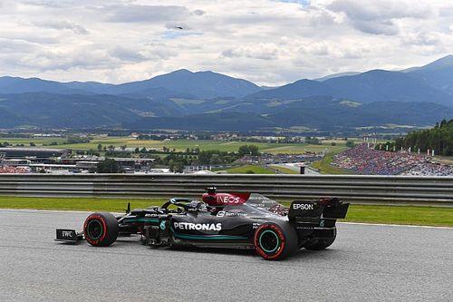 Hamilton bovenaan tijdens tweede training GP van Oostenrijk