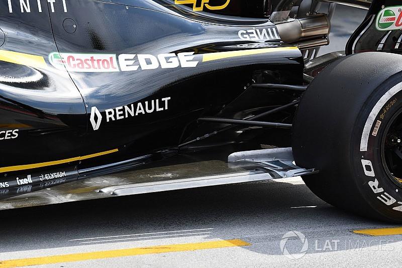 Un nouveau fond plat sur la Renault à Spa