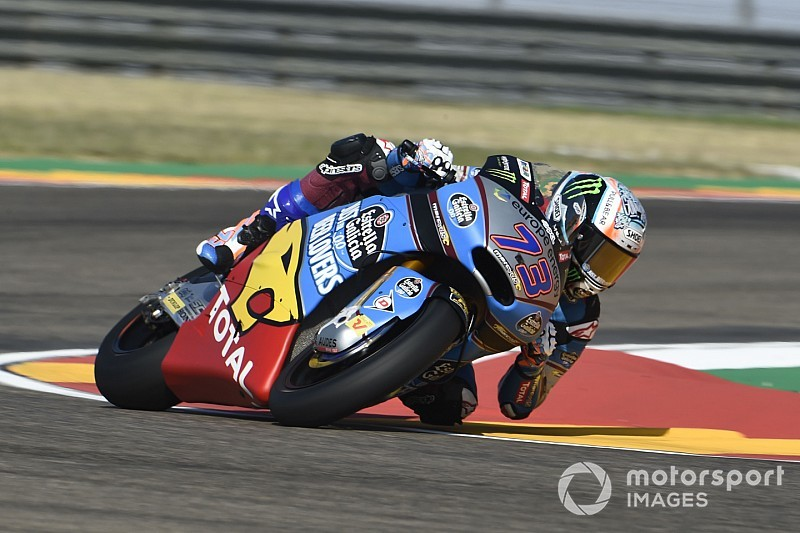 Moto2 Aragon: Marquez nipt voor Schrötter in derde training, Bendsneyder 21ste