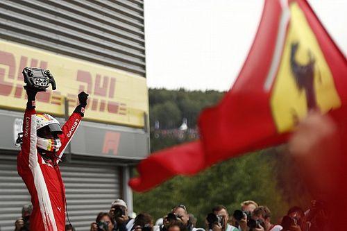 Belgian GP: Vettel passes Hamilton to take victory