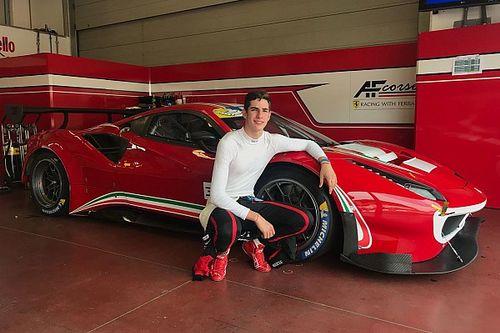 AF Corse ha testato al Mugello il giovane Sebastian Fernandez al volante di una Ferrari 488 GT3