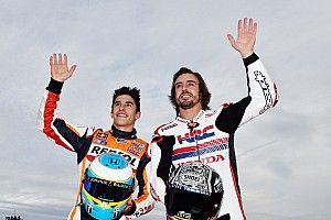 Marquez e Alonso, spettacolo su Instagram