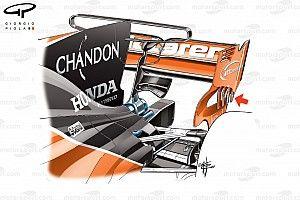 Formel-1-Technik: Der neue T-Flügel am McLaren MCL32
