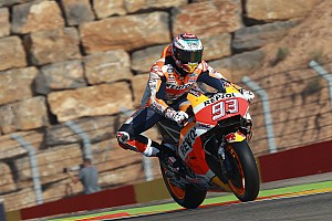 MotoGP Practice report FP3 MotoGP Aragon: Marquez tercepat, Rossi lolos Q2