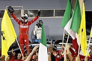 Fórmula 1 Crónica de Carrera Vettel y Ferrari vencen a Hamilton y a Mercedes en Bahrein