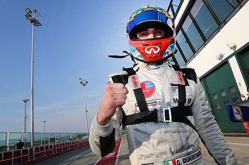 Quaresmini è raggiante dopo i test Carrera Cup Italia a Misano