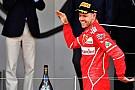 Így ünnepelt Vettel és a Ferrari Monacóban
