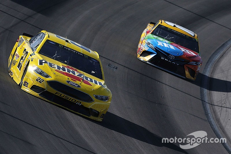 """Logano on Busch: """"We're going to have to work through it somehow"""""""