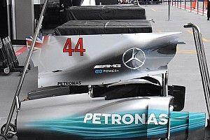 Mercedes: a Singapore la pinna del cofano motore torna piena