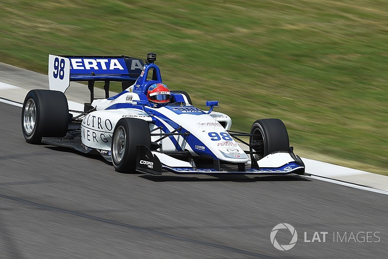 Road America Indy Lights: Herta grabs pole for Race 2